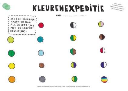 kleurenexpeditie - 10 x herfstactiviteiten voor buiten